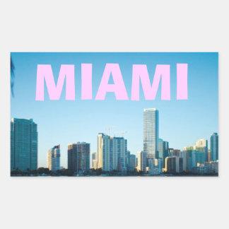 マイアミのスカイライン 長方形シール
