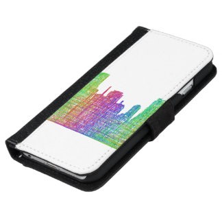 マイアミのスカイライン iPhone 6/6S ウォレットケース