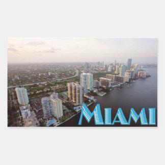 マイアミのステッカー 長方形シール