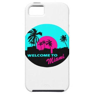 マイアミのデザインへの涼しい歓迎 iPhone SE/5/5s ケース