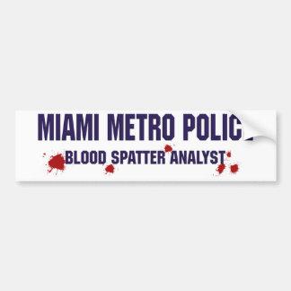 マイアミの地下鉄の警察 バンパーステッカー