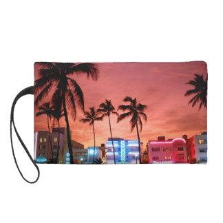 マイアミの夕べのスカイラインのリストレットのバッグ リストレット