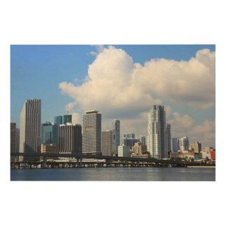 マイアミの水辺地帯の眺め ウッドウォールアート