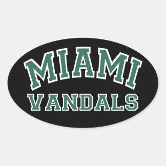マイアミの破壊者 楕円形シール