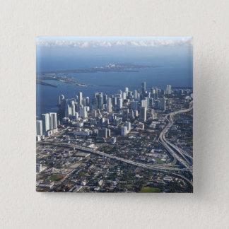 マイアミの空中写真 缶バッジ