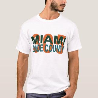 マイアミのdade、305、フロリダ、I-95の悪、ビーチ、ひれ Tシャツ