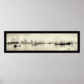マイアミのFLの写真1925年 ポスター