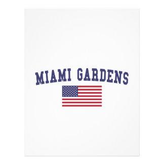 マイアミは旗米国の庭いじりをします レターヘッド
