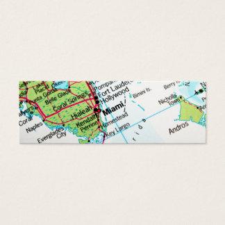 マイアミアメリカの市を示す地図 スキニー名刺