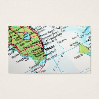 マイアミアメリカの市を示す地図 名刺