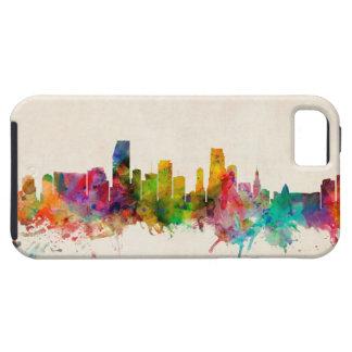 マイアミフロリダのスカイラインの都市景観 iPhone SE/5/5s ケース
