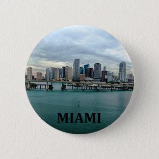 マイアミフロリダのスカイライン 缶バッジ