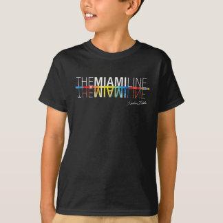 マイアミライン、黒のRockne KrebsのTシャツの子供 Tシャツ