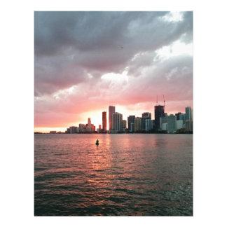 マイアミ上の日没 レターヘッド