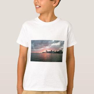 マイアミ上の日没 Tシャツ