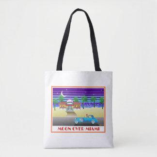 マイアミ上の月 トートバッグ