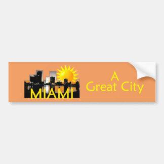マイアミ素晴らしい都市バンパーステッカー バンパーステッカー