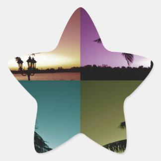 マイアミ色 星シール