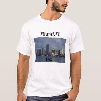 マイアミ305、マイアミ、FL、305 Tシャツ