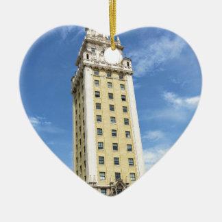 マイアミ6のキューバの自由タワー セラミックオーナメント