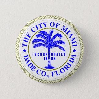 マイアミ、フロリダのシール 缶バッジ