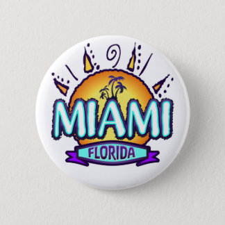 マイアミ、フロリダ 缶バッジ