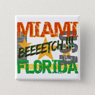 マイアミBeeeetchボタン 缶バッジ