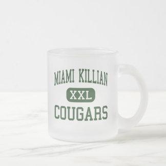 マイアミKillian -クーガー-先輩-マイアミフロリダ フロストグラスマグカップ
