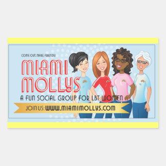 マイアミMollysのステッカー 長方形シール