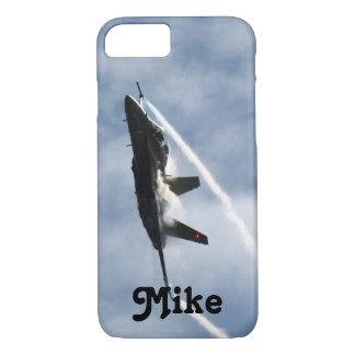 マイクのためのF/A-18戦闘機の飛行機のエア・ショー iPhone 8/7ケース