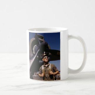 マイクのハンターのパイロットのダグラスの航空機 コーヒーマグカップ