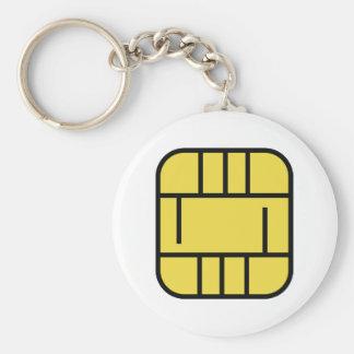 マイクロチップのクレジットカード キーホルダー