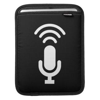 マイクロフォンのピクトグラムのiPadの袖 iPadスリーブ