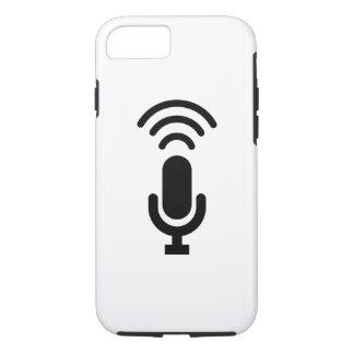 マイクロフォンのピクトグラムのiPhone 7の場合 iPhone 8/7ケース