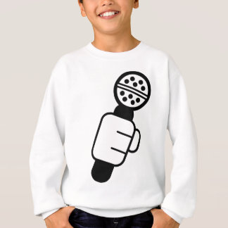 マイクロフォンの点検 スウェットシャツ
