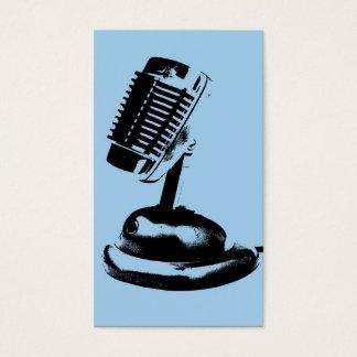 マイクロフォンのPodcaster 名刺