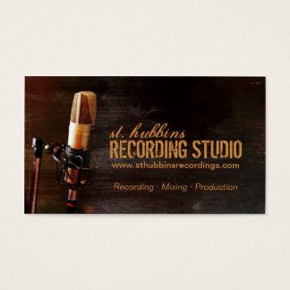 マイクロフォン音楽スタジオの名刺 名刺