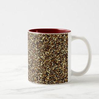 マイクロブラウンの迷彩柄パターンマグ ツートーンマグカップ