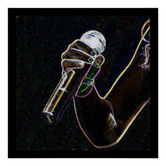 マイクロマイクロフォン音楽歌手の歌ポスター ポスター