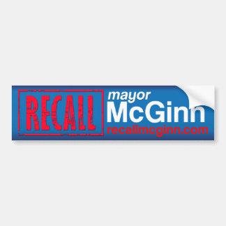 マイクMcGinnリコールの市長 バンパーステッカー