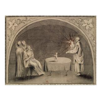 マイケルde Nostradameおよびキャサリン ポストカード