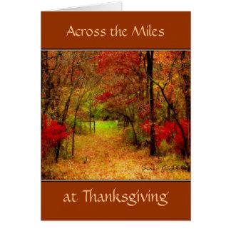 マイルの感謝祭カードを渡って カード