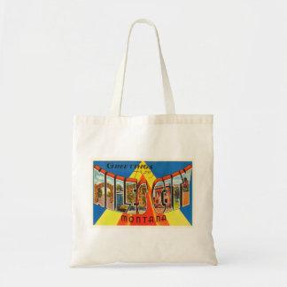 マイルの都市モンタナMTの古いヴィンテージ旅行記念品 トートバッグ