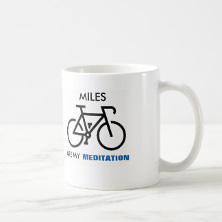 マイルは私の黙想です コーヒーマグカップ