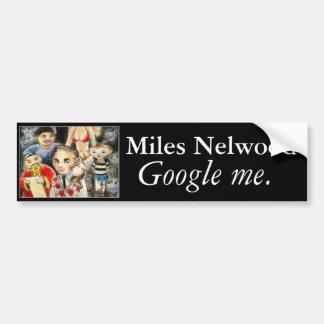 マイルNelwoodの単語を広げて下さい バンパーステッカー
