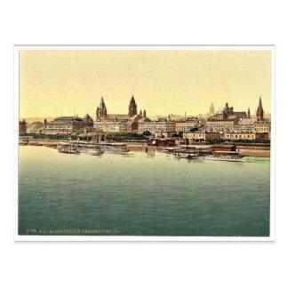 マインツ、ライン橋から、ラインのドイツmagni ポストカード
