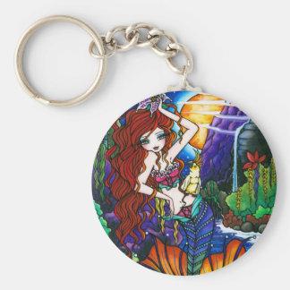 マウイのプリンセスの妖精の人魚のオウムのファンタジー キーホルダー