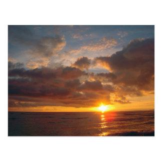 マウイの美しい日没 ポストカード