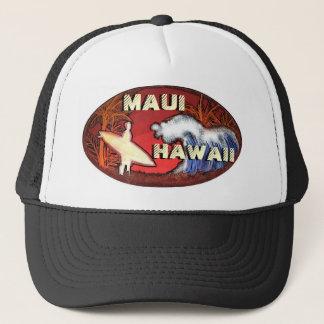 マウイハワイのサーファーは芸術的なビーチ場面帽子を振ります キャップ
