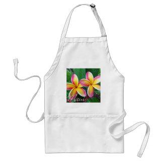 マウイハワイのプルメリアの花 スタンダードエプロン